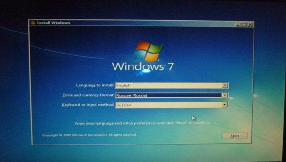 Указываем язык операционной системы и язык клавиатуры по умолчанию