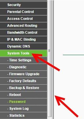 Входим в меню «Reboot», используя список «System Tools», и воспользовавшись соответствующей кнопкой, перезапускаем роутер
