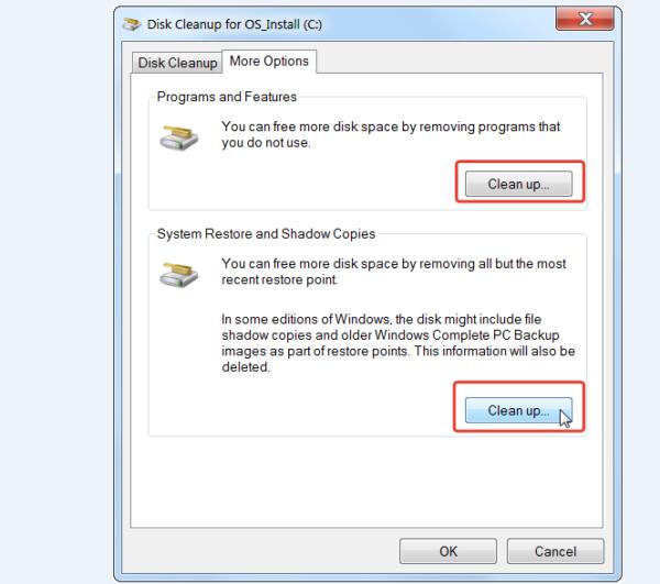 Выбираем кнопки «Удалить программы» или «Удалить резервные копии»