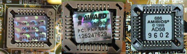 Чипы BIOS основных фирм-производителей
