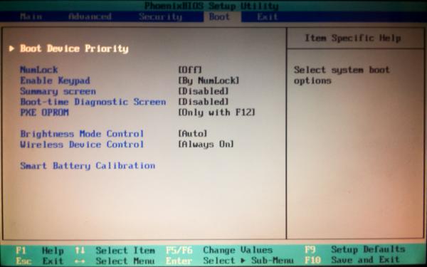 Чтобы попасть в BIOS на ноутбуке Lenovo, нажимаем клавишу F2 и переходим в меню «BOOT»