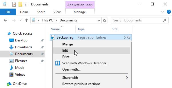 Чтобы просмотреть содержимое нужно нажать правой кнопкой мыши по файлу и выбрать опцию «Изменить»