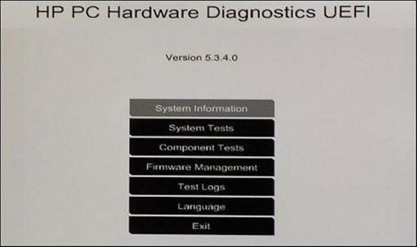 Нажав клавишу «F2» попадаем в окно, показывающее список диагностических программ