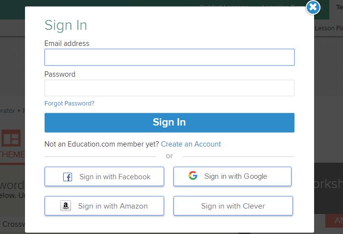 Нажимаем на ссылку «Create an Account» или выполняем вход с помощью аккаунта Facebook или Gmail