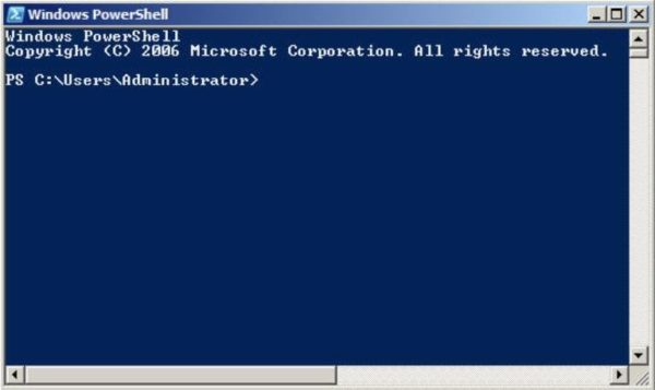 Окно «Windows Power Shell»