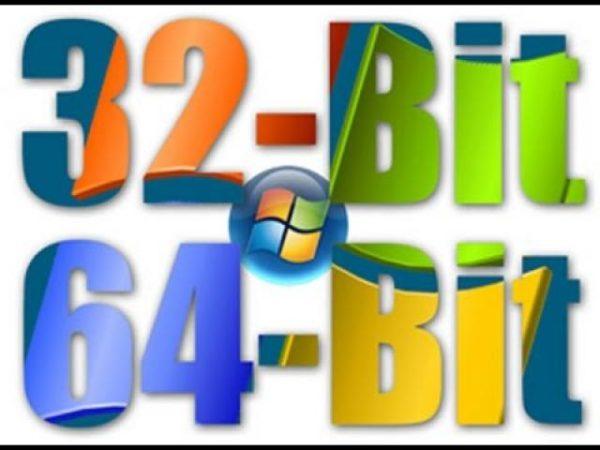 Параметры отличия 32- битной системы от 64-битной