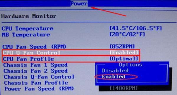 Переходим на опцию «CPU Q-Fan Control», щелкаем «Enter», выбираем режим «Enabled», нажимаем «Enter»