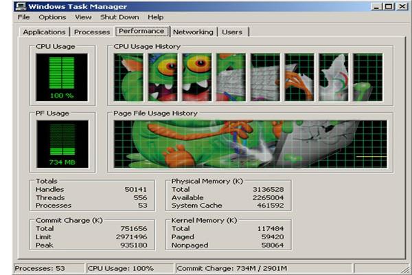 Распространение вирусной программы внутри системы замедляет быстродействие компьютера