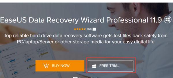 Скачиваем и устанавливаем программу EaseUS Data Recovery Wizard