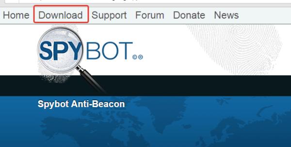 Скачиваем программу Spybot Anti-Beacon и устанавливаем на компьютер, следуя инструкции мастера установок