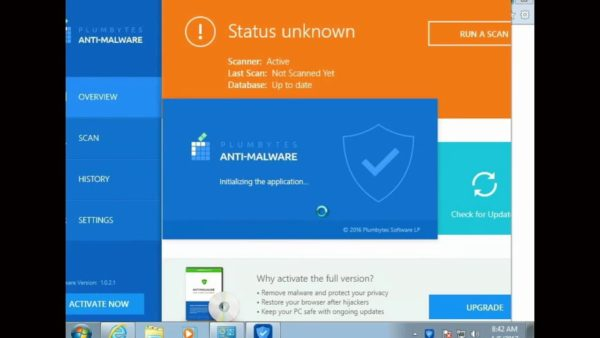 Утилита Plumbytes Anti-Malware для удаления вируса «бездействия системы»