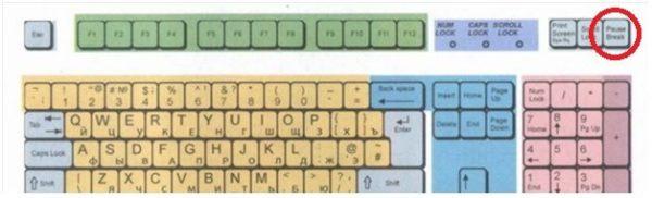 Во время перезагрузки воспользуемся клавишей «PauseBreak», для фиксации окна проверки