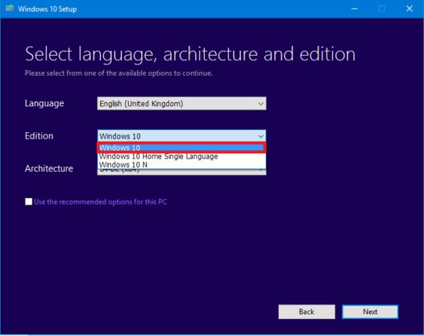 Выбираем язык и версию операционной системы