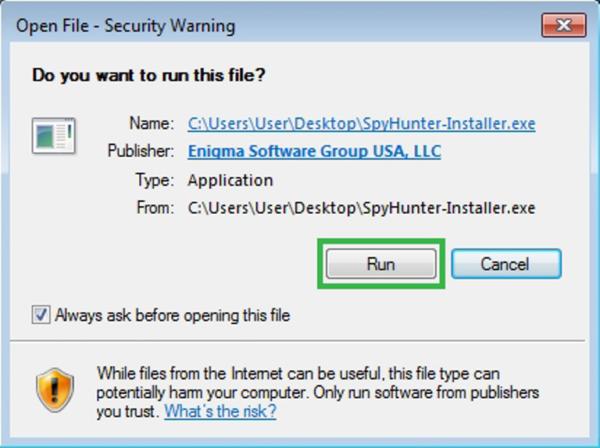 Запускаем установочный файл, нажимаем «Run»