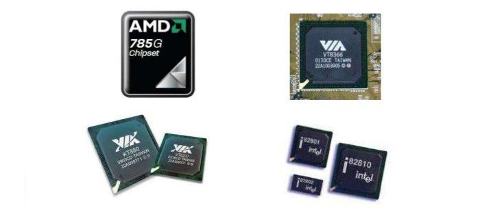 Блок микросхем, который отвечает за работы всех остальных комплектующих, должен поддерживать модель процессора