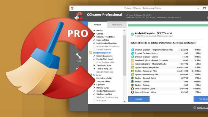 Для очистки реестра используем программу CCleaner Pro