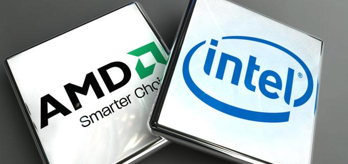 Два популярных производителя процессоров Intel и AMD