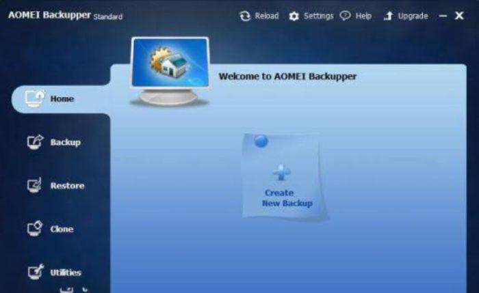 Нажимаем кнопку «Создать новую копию» («Greate New Backup»)
