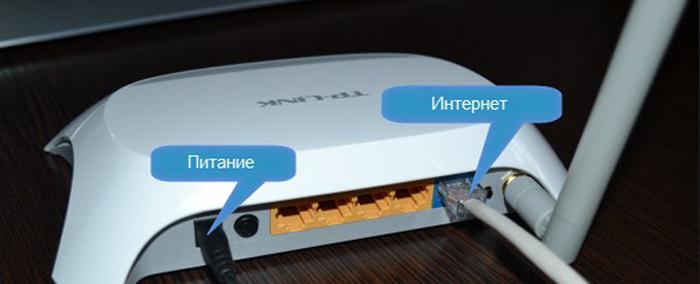 Подключаем роутер через сетевой кабель