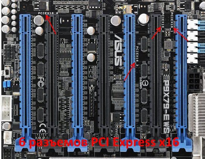 Разъем PCIe x16 на материнской плате