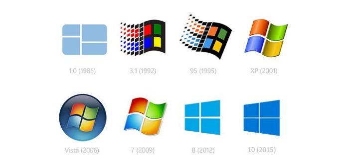 Соответствие разных операционных систем с разрядностью процессора в хронологическом порядке