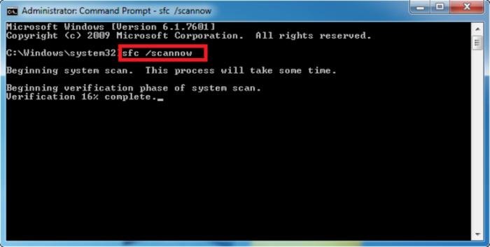 Вводим команду «sfc /scannow» в консоль Windows, нажимаем «Enter»