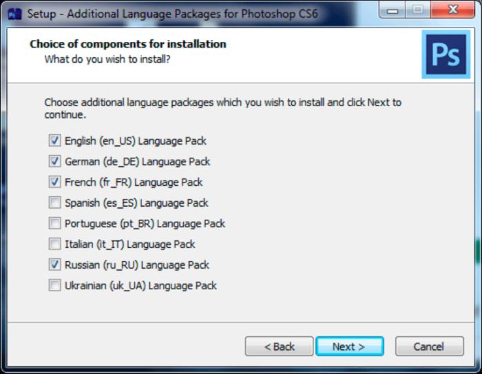 Выбираем те языки, которые нам нужны, нажимаем «Next»