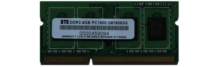 Бюджетный вариант оперативной памяти DDR3 с частотой в 1600 Мгц и объемом 4 Гб
