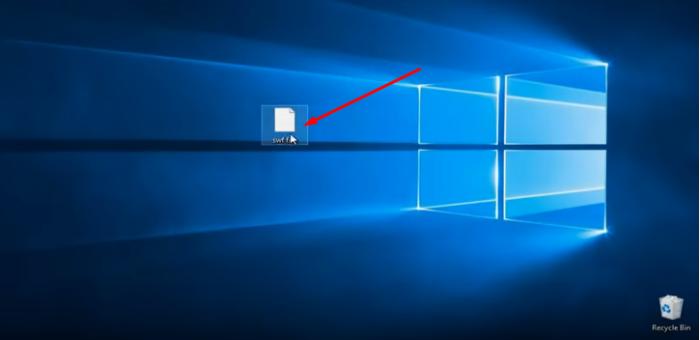 Двойным левым кликом мышки открываем файл swf