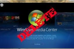 Как удалить Windows media center