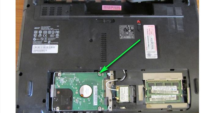 Находим и снимаем жесткий диск на ноутбуке