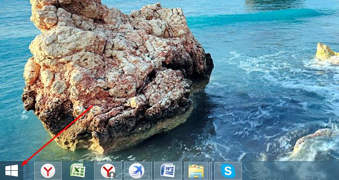 Нажимаем на кнопку «Пуск» или на иконку с логотипом Виндовс