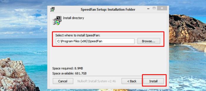Оставляем по умолчанию путь для хранения файла, нажимаем «Установить» («Install»)