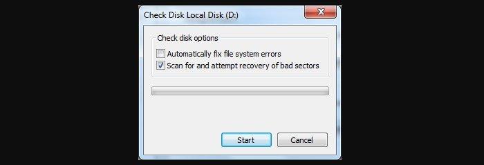 Отключаем флажок «Автоматически исправлять ошибки файловой системы»