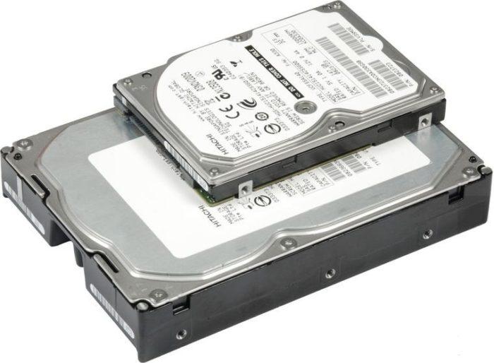 Толщина жестких дисков имеет различия