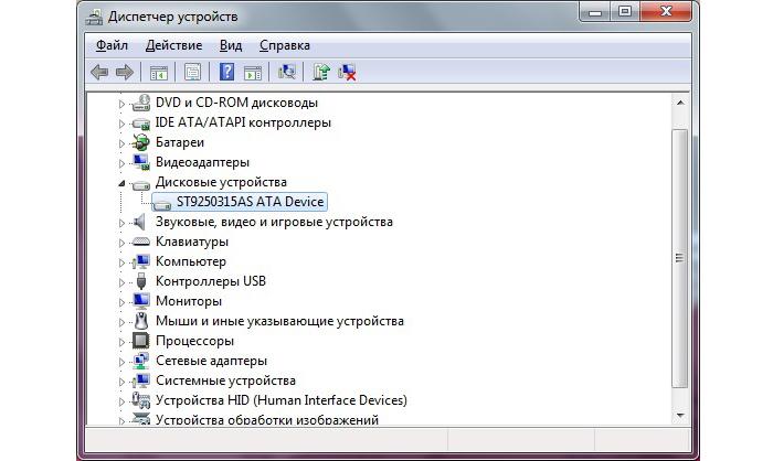 Выбираем пункт «Дисковые устройства», жесткий диск