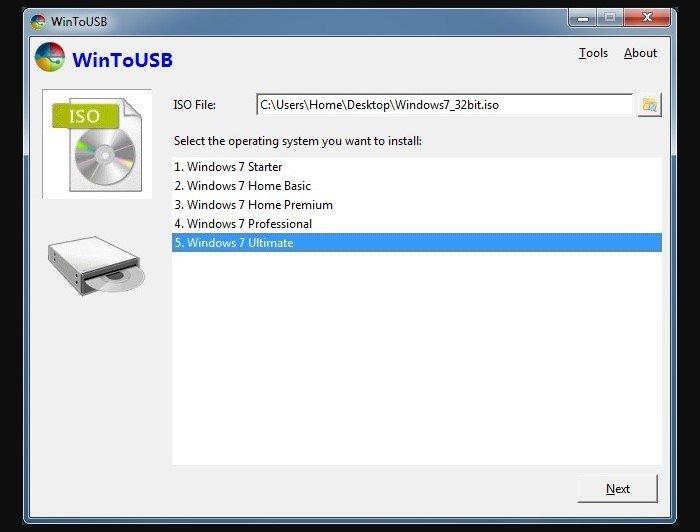 Выбираем версию Windows 7