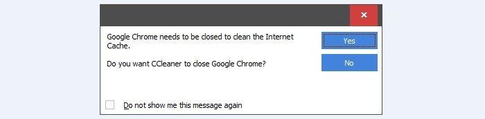 Закрываем все программы, на которые ссылается CCleaner
