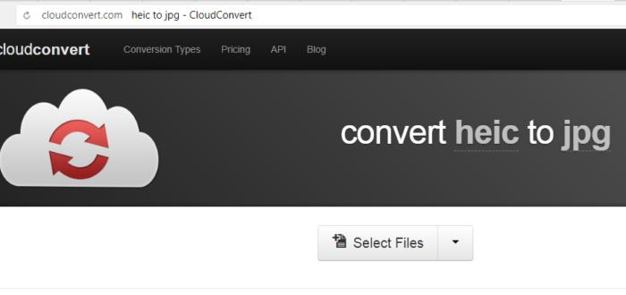 Интерфейс онлайн-сервиса cloudconvert.com