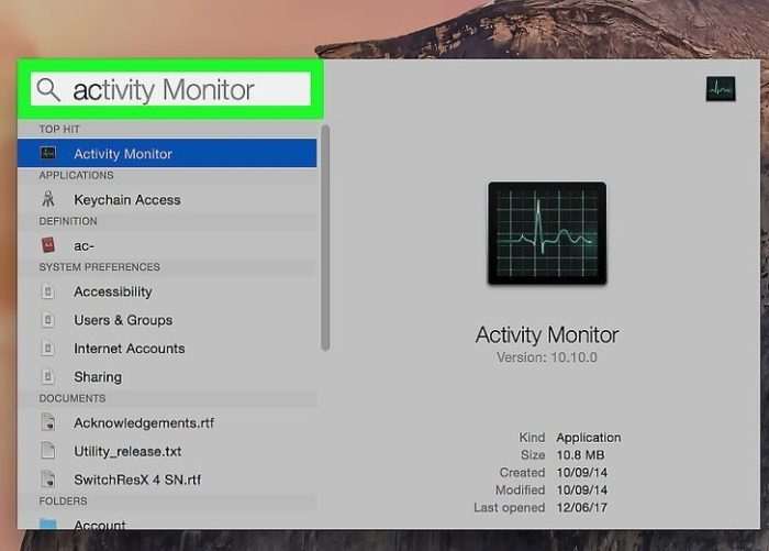 Нажимаем «Ctrl+Пробел», в поле поиска вводим «Activity», нажимаем «Enter»