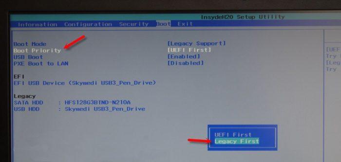 Как запустить виндовс с флешки на lenovo. Как загрузить с флешки ноутбук Lenovo?
