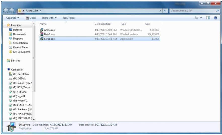 Запускаем файл установки программного обеспечения Setup.exe