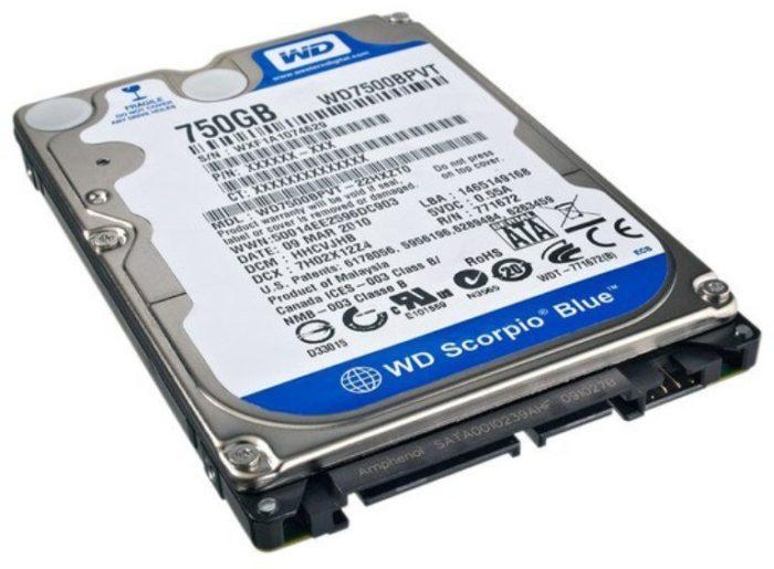 Накопитель HDD на жестких магнитных дисках