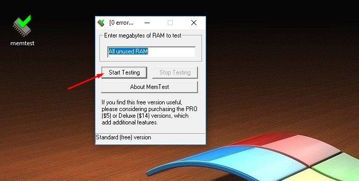 Нажимаем «Start Testing»