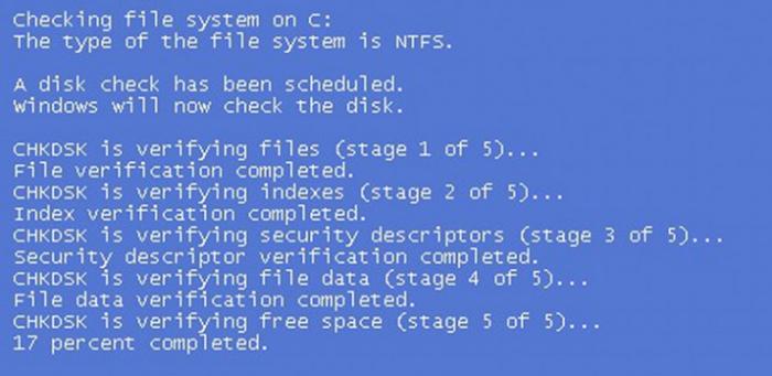 Процесс исправления ошибок после перезагрузки компьютера