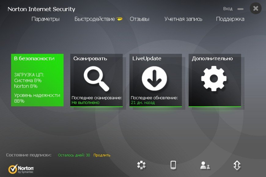 Антивирус Norton Security