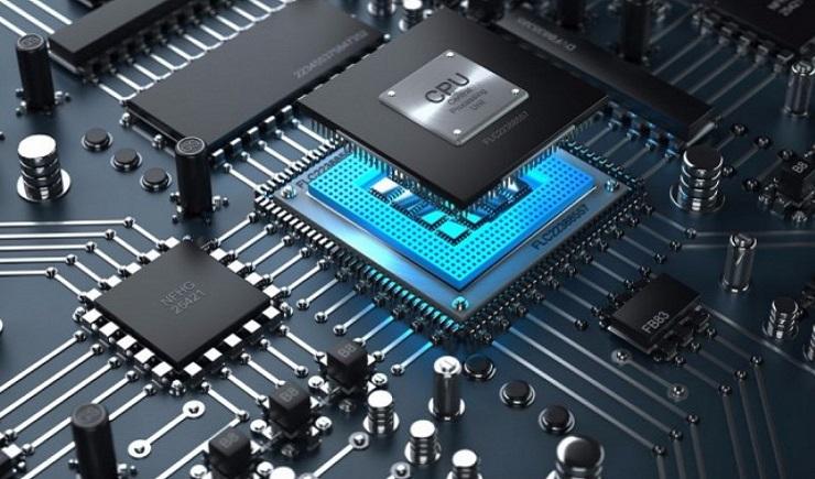 Центральный процессор представлен в виде интегральной схемы