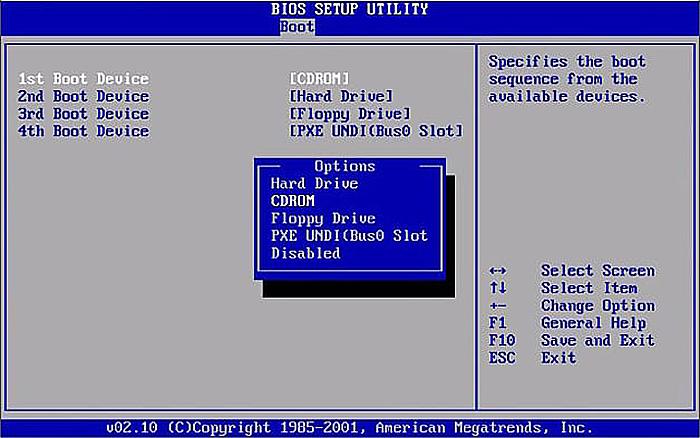 Далее выбираем Boot Device Priority, подпункт 1st Boot Devicе
