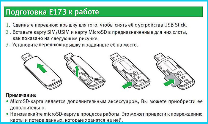 Инструкция для подключения SIM-карты