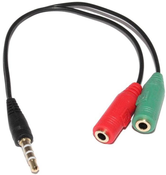 Кабель-разветвитель для подключения в разъём для аудио гарнитуры